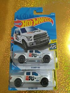 2-2018-Hot-Wheels-039-15-Ford-F-150-203-365-HW-Speed-Graphics-6-10-K-amp-N-WHITE
