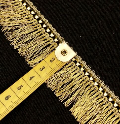 2 Yards Gilver Lurex Curtain Fringe Tassel 3cm Saree Border SewOn Lace Zari Trim