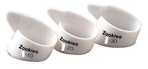 DUNLOP Zookies Z9002 Tip Angled CELLULOID THUMB PICKS M20 Medium 4 PICKS