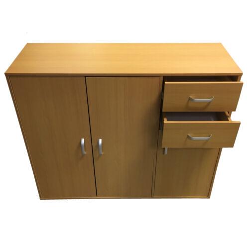 Buffet Noir Blanc Hêtre Noyer foncé armoire de rangement en bois armoire Redstone