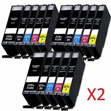 30 PGI-250 XL CLI-251 XL Ink Cartridges for Canon PIXMA MG7120 MG6320 MG5520