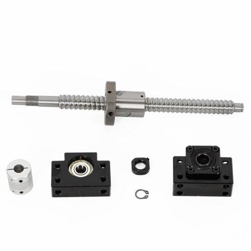 250-750mm SFU1605 Kugelumlaufspindel /& Mutterblock/& kupplung /& BK BF12 Festlager