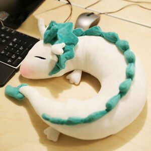 Anime Spirited Away White Dragon Haku Cute Doll Plush Toy Pillow Neck U Shape