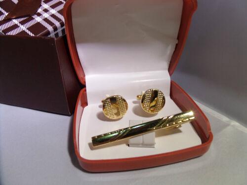 Para Hombre Chicos Oro Gemelos clip pa corbata Set de regalo de Navidad caja de regalo cualquier ocasión
