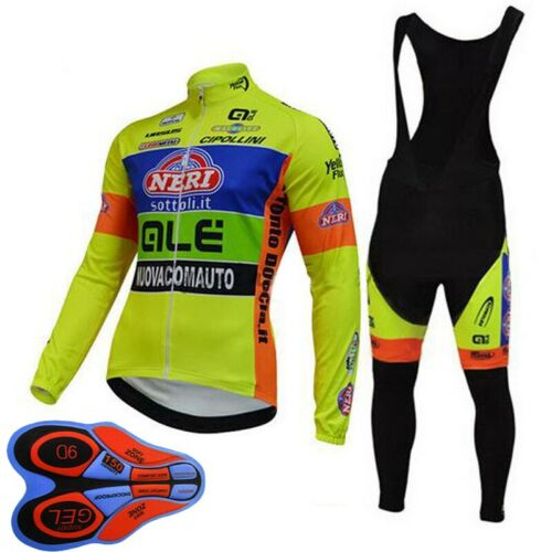 New Men cycling jersey suit long sleeve bike shirt bib pants set bicycle uniform