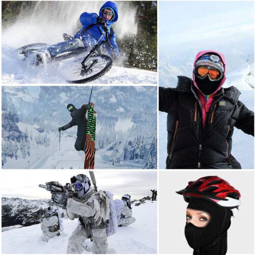 Cold Weather Fleece Balaclava Hood Cycling Motorcycle Ski Windproof Face Mask US