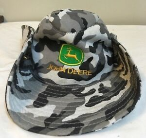 79d25429b3d JOHN DEERE Bush Hat Boonie Fishing Hunting Urban Camo Snap Up Sides ...