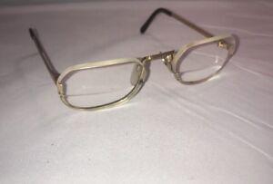 Univis Gold Vintage Eyeglasses Frames Made In Usa Semi Rimless 33