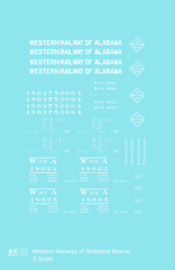 K4-S-Decals-Western-Railway-Of-Alabama-40-Ft-Boxcar-White-West-Point-Route