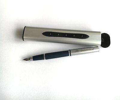 Füllfederhalter Finance mit Automatik Box und Ihrer Gravur auf Füller UND Etui
