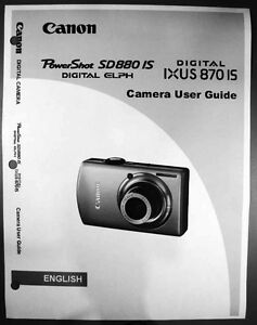 canon powershot sd880 is ixus 870 is digital camera user guide rh ebay com Canon Camera User Manual Canon Camera User Manual