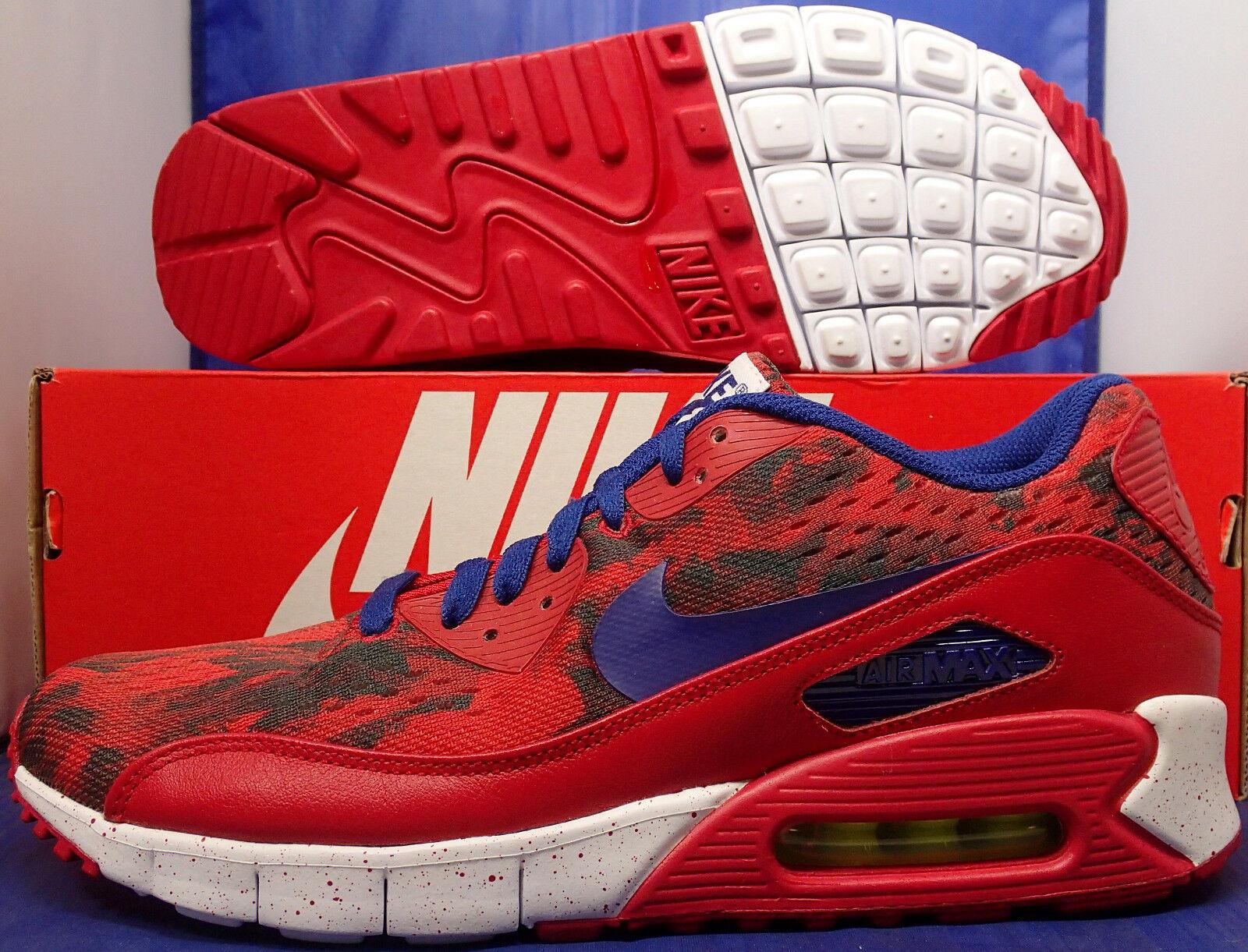 Nike Air Max 90 EM iD White ( Blue Red SZ 8.5 ( White 708271-992 ) e0439a