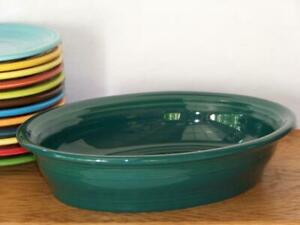Fiesta-EVERGREEN-Small-Oval-Bowl-Vegetable-Bowl-Discontinued-Color