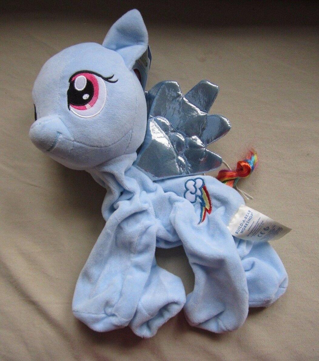 NWT BUILD A BEAR MLP My Little Pony unstuffed Rainbow Dash Plush Horse Pegasus