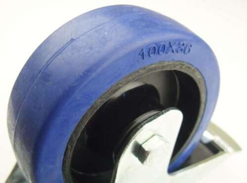 1 Set 100 mm SL Lenkrollen m Feststeller /& Bockrollen Blue Wheel Transportrollen