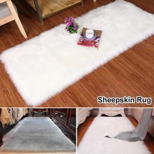 Faux-Fur-Sheepskin-Rug-Fluffy-Mat-Pad-Room-Sofa-Bed-Hairy-Shaggy-Floor-Carpet-US