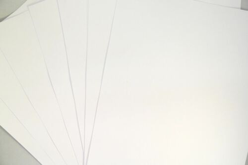 Lieu de papeterie qualité premium carte blanche épaisse 210 gsm A4 A5 de 1 à 250 feuilles