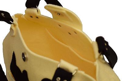 Elegante Katze - handgefertigte Handtasche Umhängetasche Wollfilz Beige Ecru