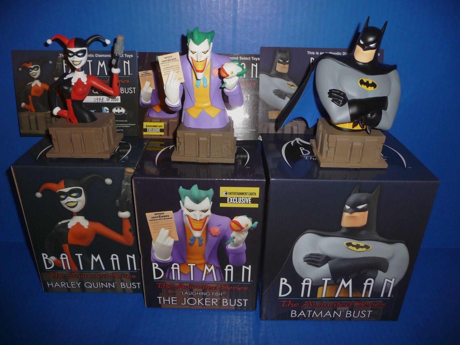 Batman The Animated Serie Busts The Joker, Harley Quinn, Batman Edición Limitada