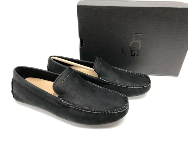 41756ab3d2a UGG Henrick Black Suede Moccasin Loafer Slip on Shoes Size US 8/uk 6.5/eu 39