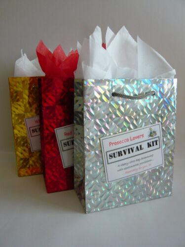 Prosecco Lovers SURVIVAL KIT Novelty Gift Idea Fun Present Birthday Christmas