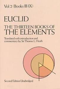 new the thirteen books of the elements vol 2 books 3 9 by thomas
