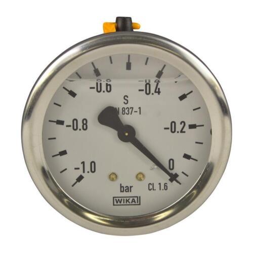 Wika norma en 837-1 manómetro 63mm g 1//4 puerto abajo MB 0-0,6 bar