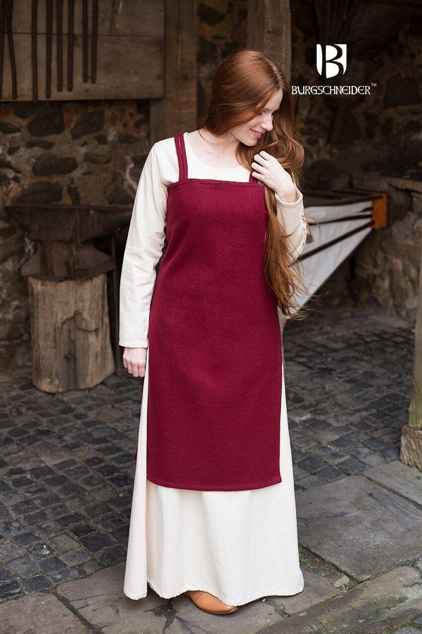 Mittelalter Trägerkleid Überkleid Wikinger Wolle - Rot von Burgschneider     | Deutschland Online Shop  | Qualität und Quantität garantiert  | Export  | Nicht so teuer  | New Products