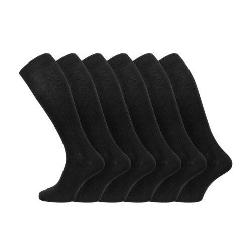 6 Paires De Homme 100/% Coton Doux Extra Long Genou Chaussettes 6-11 uk 39-45 EUR