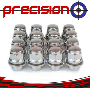 16-Chrome-Wheel-Nuts-for-Toyota-Corolla-Liftback-1983-2002-with-Toyota-Alloys