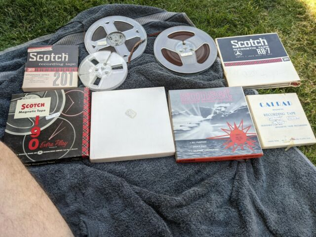 Lot of Vintage Reel to Reel Tapes, Various Brands sizes empty used