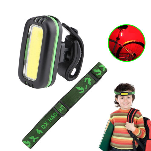 Headband 2 in 1 COB LED Flashlight Headlamp//Bike Tail Light for Cycling Camping