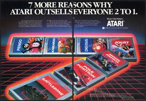 ATARI 2600/5200__Orig. 1983 Trade AD / game poster__Joust__Dig Dug__Battlezone
