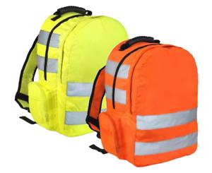 Hi Vis Viz Rucksack High Visibility Work Backpack Hiking Walking Sports Work Bag