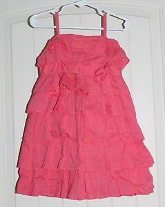 ce52d9f419d Toddler Girls Old Navy Coral Pink Tiered Ruffles Lined Cotton Sun ...