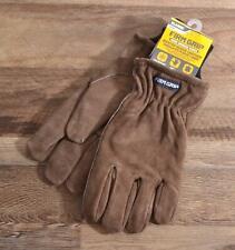 Firm Grip Winter Suede Genuine Leather Gloves Insulated Fleece Work Brown Xl