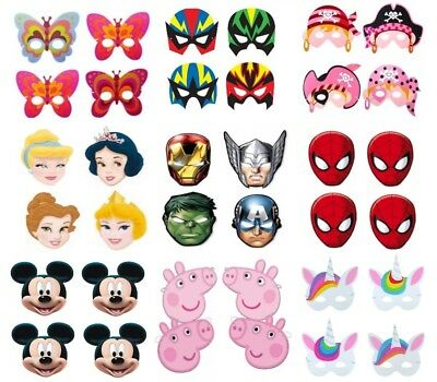 FANCY DRESS PARTY BAG FILLERS FACE MASK X 24 GIRLS PINK PIRATE FOAM MASKS