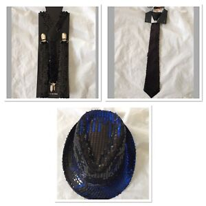 Adult-Gangster-Detective-Costume-Set-Sequin-Hat-Suspenders-Tie-Party
