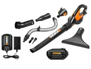 WG575 1 WORX 32V Max Lithium Cordless Blower Sweeper 8 Clean Zone Attachments