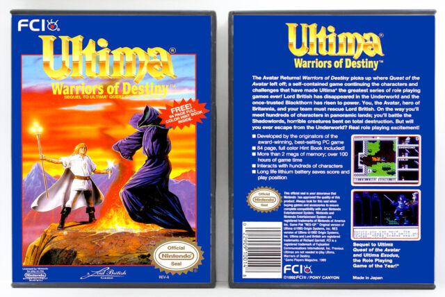 Ultima V: Warriors of Destiny - Nintendo NES Custom Case *NO GAME*
