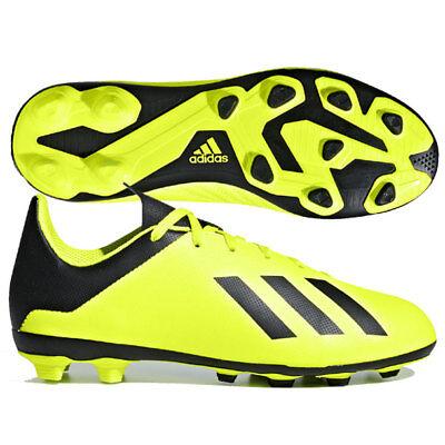 Scarpe da calcio Fisse bimbo Adidas J X 18.4 FG J DB2420 Giallo Nera | eBay
