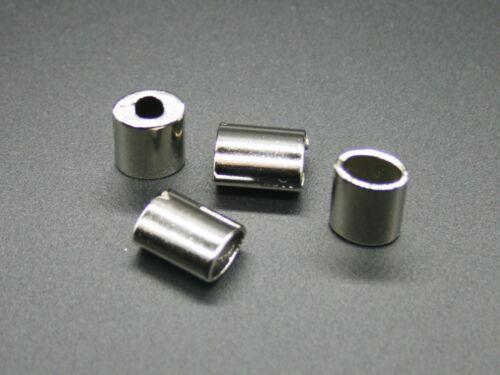 Endstücke 4 Kordelstopper Metall 12,5x10mm Kordel