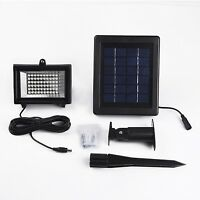 Solar Powered Flood Light 60 Led White Outdoor Waterproof Landscape Security...