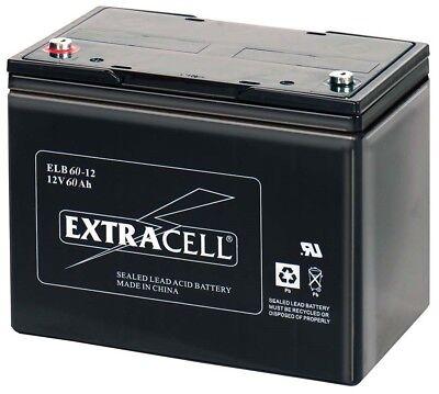 Batteria 12v 60a Piombo Gel Ermetica Allarmi Ups Elettronica 60ah Fotovoltaico Crease-Resistenza