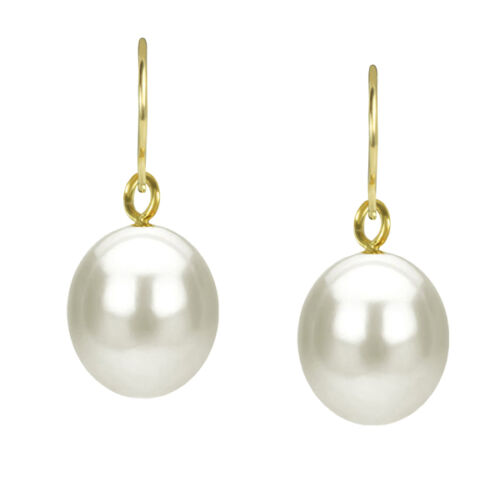 latest styles 18K Solid Gold Black or White Baroque Pearl with ...