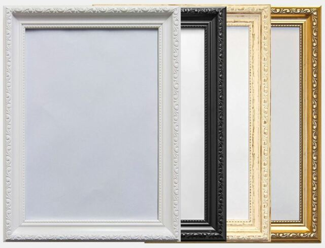 Ornate Shabby Chic Style Black Picture Photo Poster Frame 20x28 Ebay