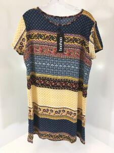 93425c98bf4b9 BOOHOO WOMEN S KELSEY PAISLEY BORDER PRINT SHIRT DRESS MULTICOLOR ...