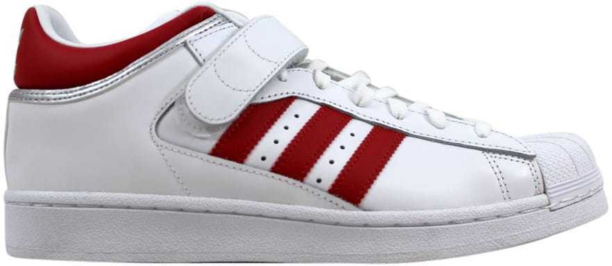 Adidas Pro Shell White/Scarlet Red-Silver BY4384 Uomo SZ 11.5