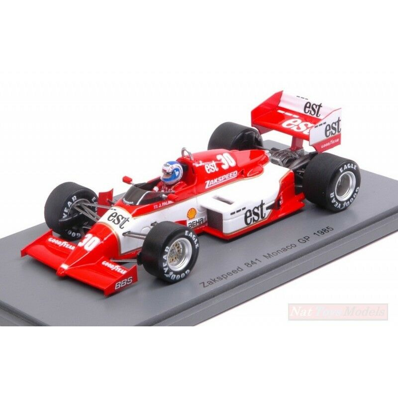 SPARK MODEL S1873 ZAKSPEED 841 J.PALMER 1985 N.30 11th MONACO GP 1:43 DIE CAST