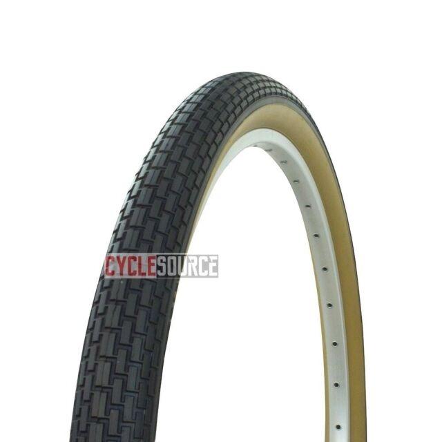 1 Brown Cream 26 x 2.125 Beach Cruiser Bike Bicycle Tires Small Brick Fenix